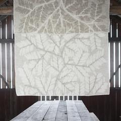 VERSO blanket beige-white