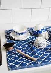 ESKIMO towel white-blueberry