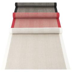 IIDA runner linen-black, linen-red and white-linen #nocrop