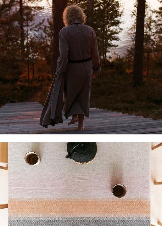 KIVI bathrobe, RUOSTE tablecloth